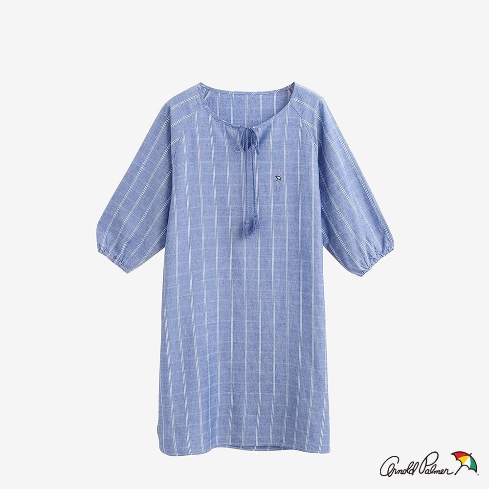 Arnold Palmer-女裝-涼感牛仔洋裝-淺藍