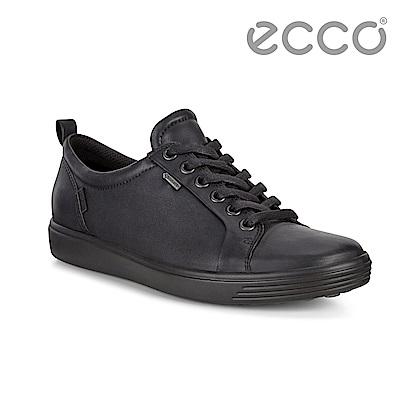 ECCO SOFT 7 LADIES 防水款經典輕巧休閒鞋 女-黑