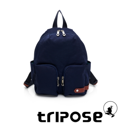 tripose CUBI微皺尼龍輕量後背包 深藍色