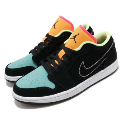 Nike 休閒鞋 Air Jordan 1 Low 運動 男鞋 經典款 喬丹一代 皮革 簡約 穿搭 黑 綠 CK3022013