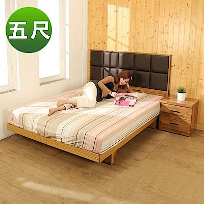 BuyJM拼接木系列雙人5尺2件式房間組(床頭片+日式床底)-免組