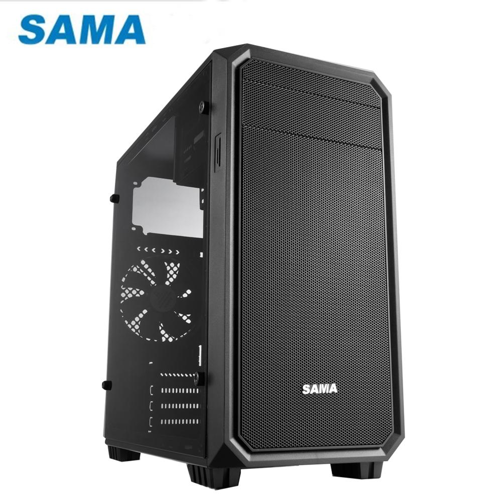 SAMA 先馬 SMQ001 小武士 M-ATX 電腦機殼(全透側)