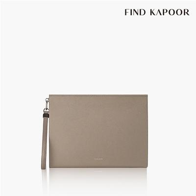 【FIND KAPOOR】CLUTCH 32 十字壓紋系列手拿包- 可可色