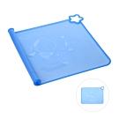 CuteStone 矽膠餐墊-藍色