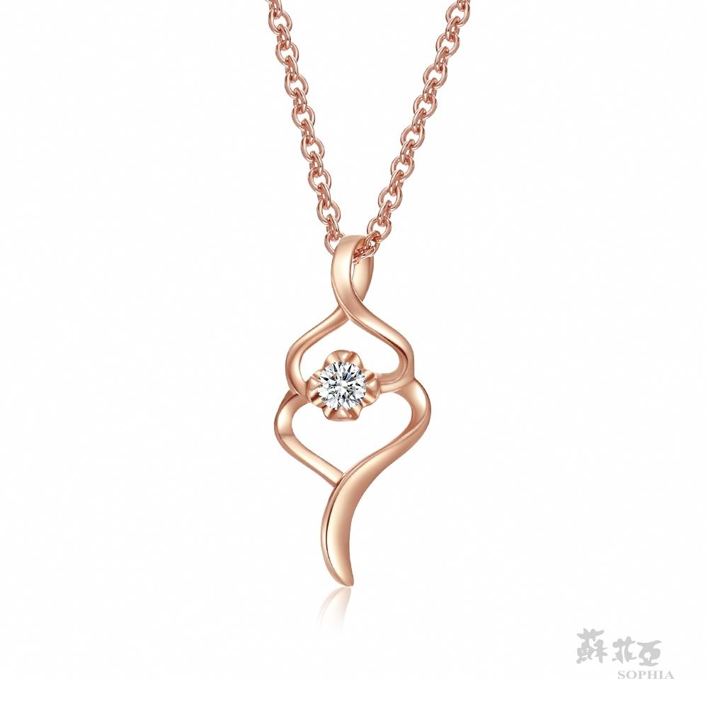 SOPHIA 蘇菲亞珠寶 - SWEET HEART 系列 14K玫瑰金 鑽石項鍊
