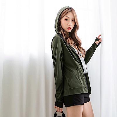 台灣製造。抗UV連帽袖套造型防曬外套-OB嚴選