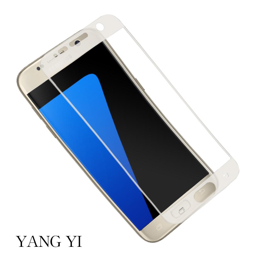 YANGYI 揚邑 Samsung Galay S7 滿版3D防爆防刮9H鋼化玻璃保護貼膜