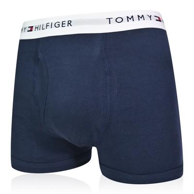 Tommy Hilfiger Cotton Stretch 男內褲 短版棉質高彈性合身平口褲/Tommy四角褲-海軍藍