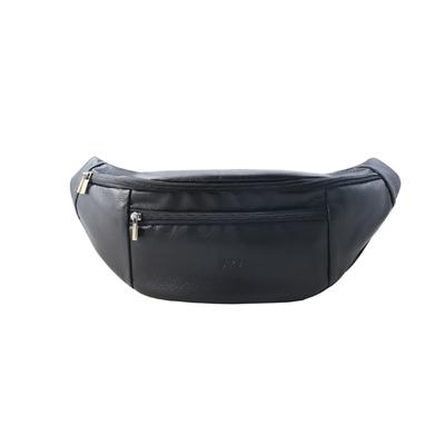 Sika荔枝紋側胸包(大)L6220-03質感黑