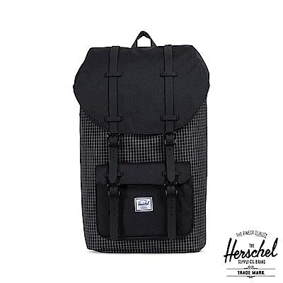 Herschel Little America 後背包-黑色格紋