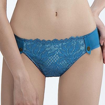 曼黛瑪璉 雙弧 低腰三角內褲(天堂藍)