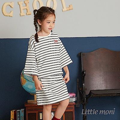 Little moni 運動風條紋套裝 (2色可選)