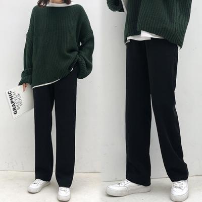 【韓國K.W.】(預購)海島假期垂感西裝褲-1色