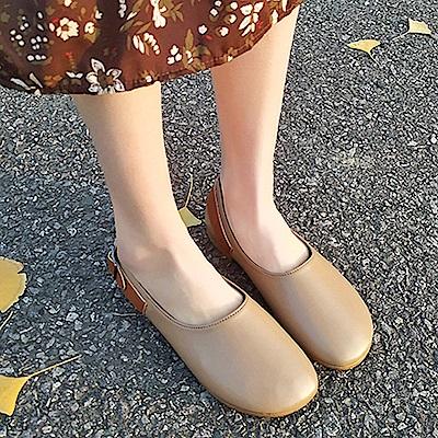 韓國KW美鞋館 賣瘋了歐美玩酷平底鞋-杏色