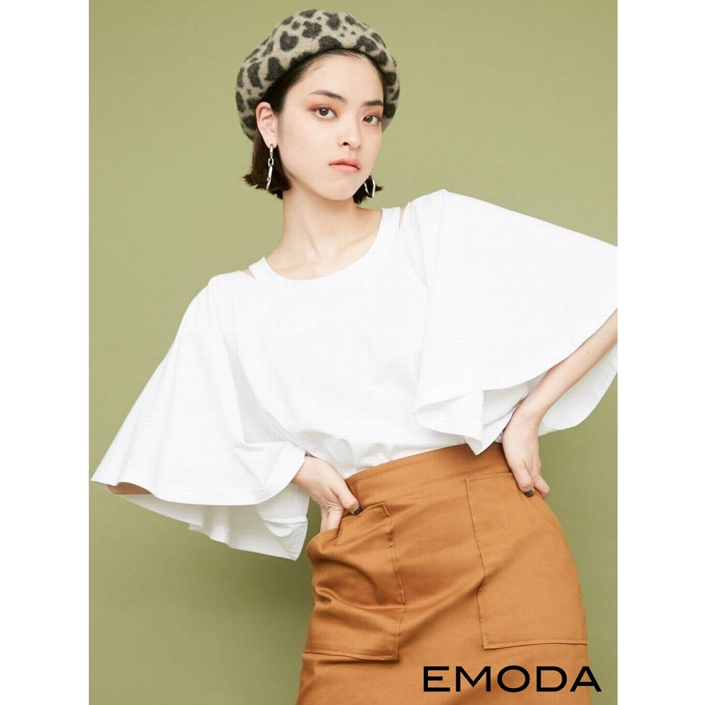 EMODA 修身A LINE口袋褲裙(3色)