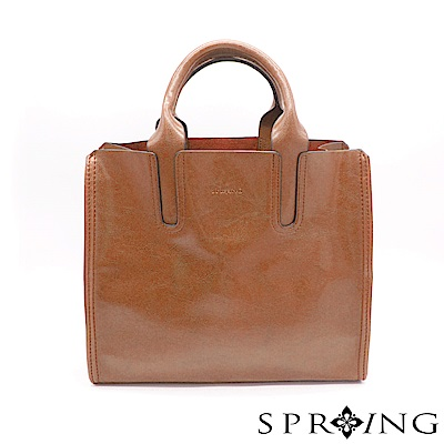 SPRING-朴秘書的柔軟真皮方包-知性棕