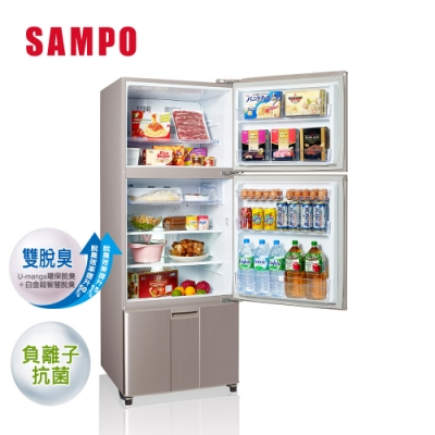 [福利品] SAMPO聲寶 455公升 一級能效超值變頻系列變頻三門冰箱 SR-B46DV(R6) 紫燦銀