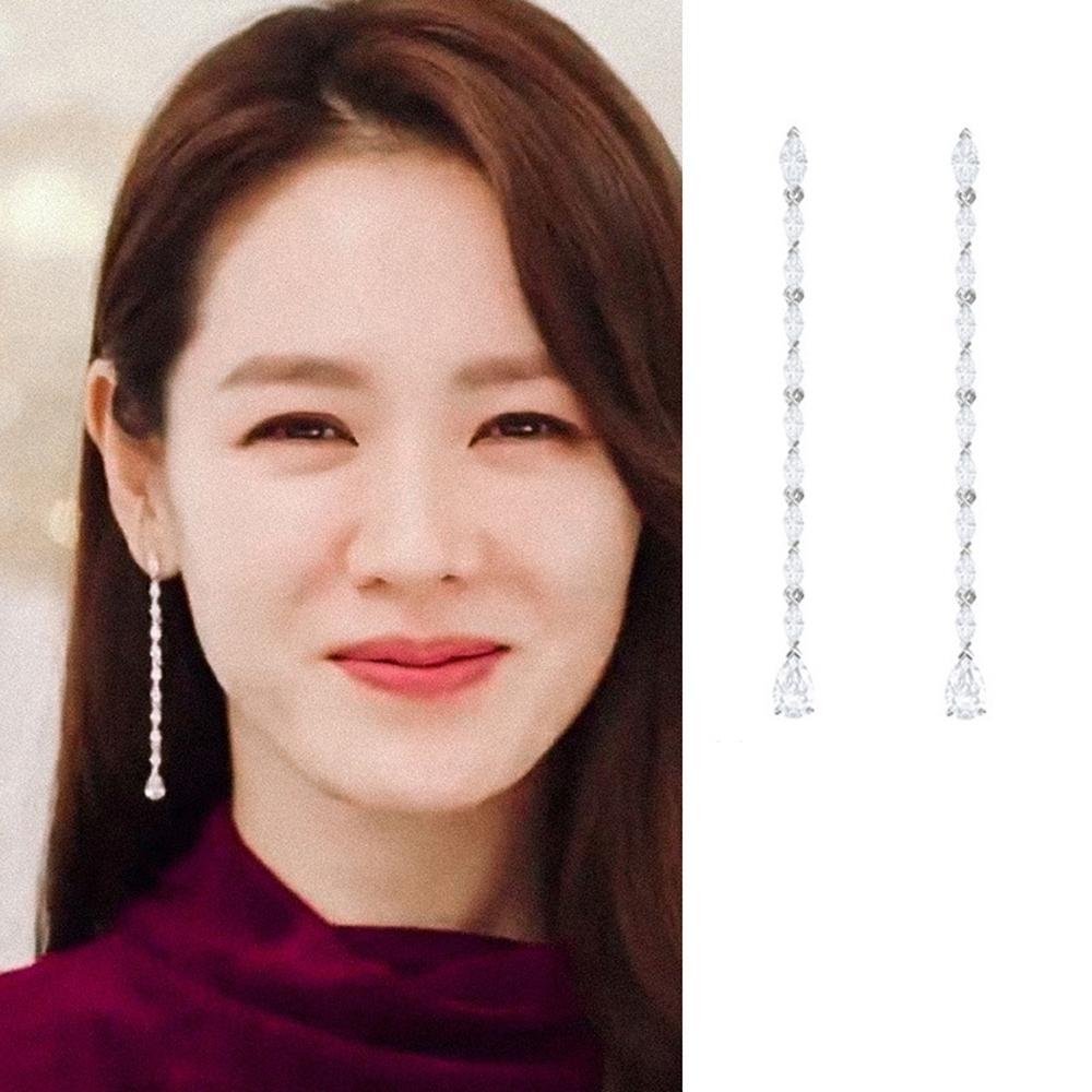 梨花HaNA  韓國925銀愛的迫降尹世理水晶流蘇耳環
