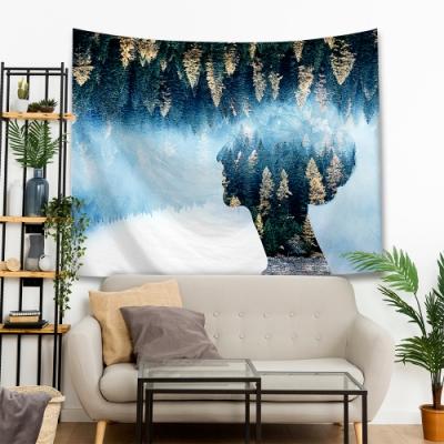 (買就送1.5米星星燈) 半島良品 IG爆款窗影剪影系列-樹海剪影-森林