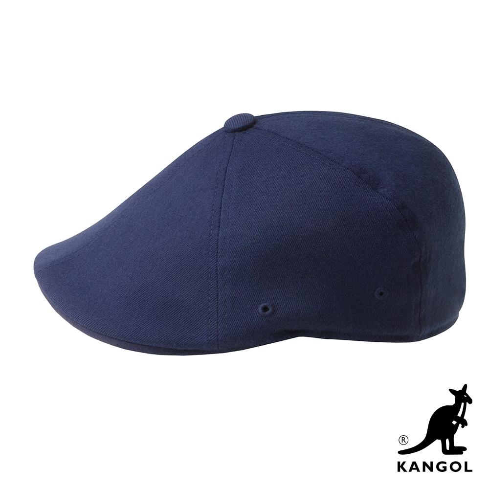 KANGOL-504 WOOL FLEXFIT 鴨舌帽-深藍色