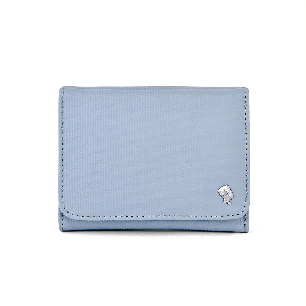 PORTER - 輕甜繽紛SPIRIT多功能皮夾 - 粉藍(銀)