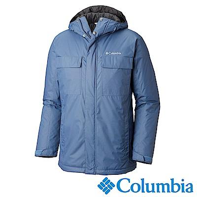 Columbia哥倫比亞 男款-防潑水外套-墨藍  UWM12270IB