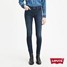 Levis 女款 710 中腰超緊身 彈力牛仔褲 四向彈性延展 深藍微刷白