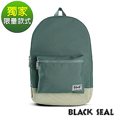 BLACK SEAL 聯名8848系列-基本款撞色休閒後背包-  撞色綠BS81254