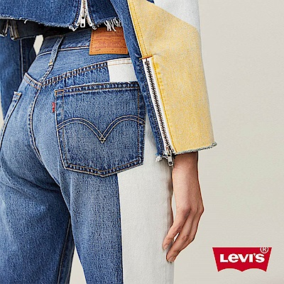 Levis 女款 501 Crop 中腰排釦直筒牛仔長褲 貓鬚不收邊