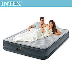 INTEX 豪華型橫條內建電動幫浦充氣床-雙人加大-寬152cm(67769)