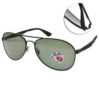 RAY BAN太陽眼鏡 偏光飛官太陽眼鏡/黑-綠偏光鏡片#RB3549 0069A-61mm