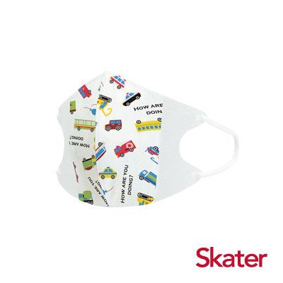 Skater幼兒立體口罩- 小司機(5入/包)共6包