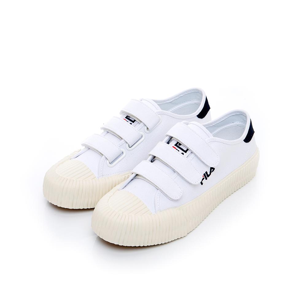 FILA 中性帆布餅乾鞋(防臭鞋墊)-白 4-C319T-110