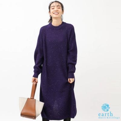 earth music 點點鉤紗混紡針織洋裝