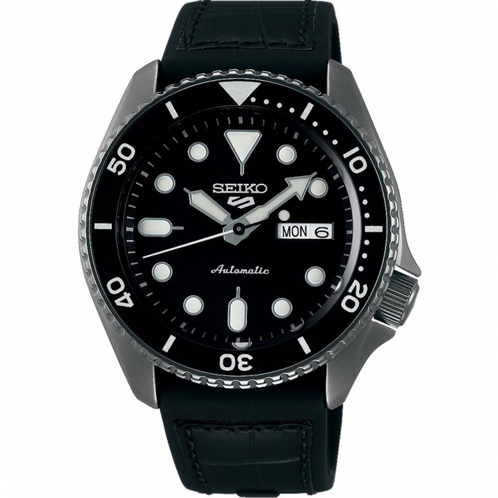 SEIKO 精工 5 Sports 系列潮流機械錶 4R36-07G0X(SRPD65K3)-黑/42.5mm