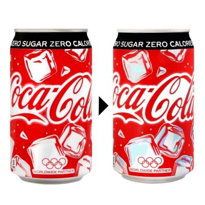 Coca Cola 零卡可口可樂-變色瓶(350g)