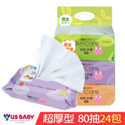 優生 超厚型柔潤濕巾(80抽24包)