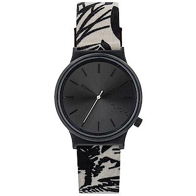 KOMONO Wizard Print 腕錶-黑色棕櫚/37mm