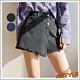 短褲 排扣口袋毛邊牛仔短褲LZ8458-創翊韓都 product thumbnail 1