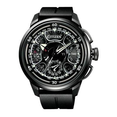 CITIZEN GPS 鈦金屬光動能雙箭男腕錶(CC7005-16F)-47mm