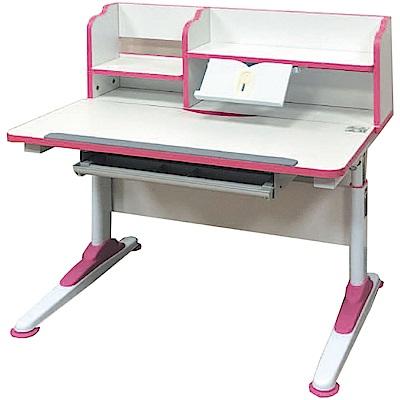 綠活居 米特多功能3尺可調式兒童書桌(二色+置物書架)-90x60x56cm免組