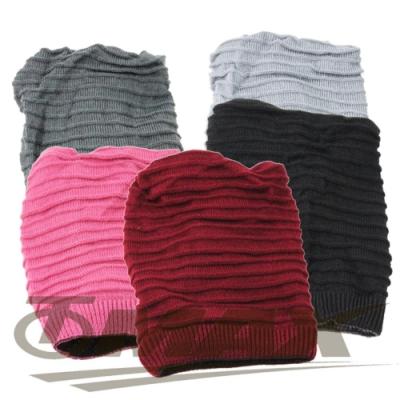 omax全新保暖雙面毛帽圍脖兩用款-2入(隨機出貨)