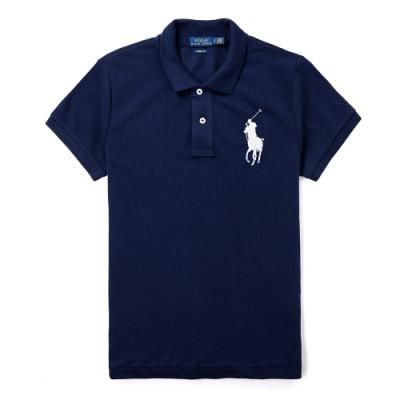 Polo Ralph Lauren 年度熱銷刺繡大馬短袖POLO衫(女款-SKINNY FIT)-深藍色