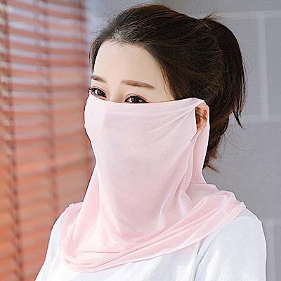 幸福揚邑 360度防曬涼感抗UV口罩面罩2入組-雪芽