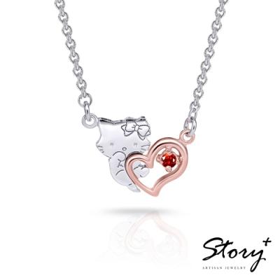 CharmingForYou系列-CharmmyKitty抱抱誕生石純銀項鍊