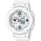BABY-G 引領潮流系列百變時尚休閒錶(BGA-230-7B)白色42.9mm