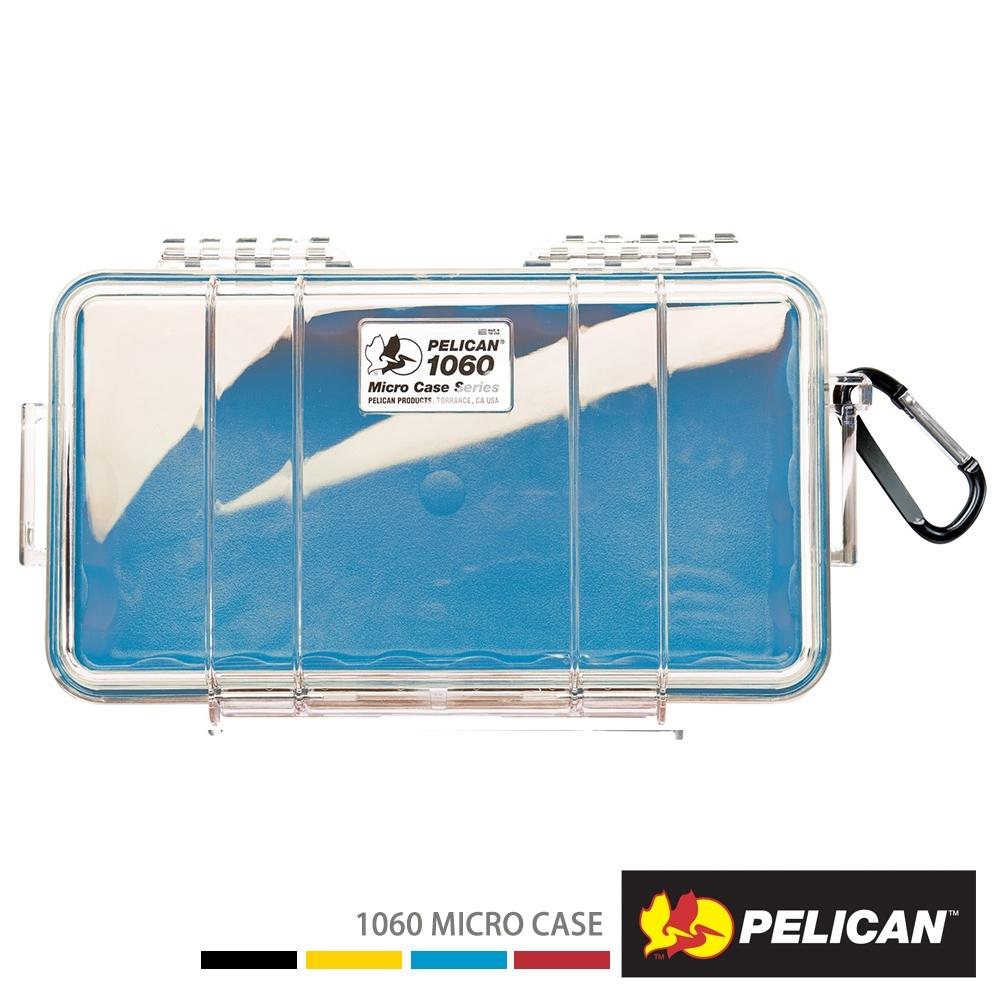 美國 PELICAN 1060 Micro Case 微型防水氣密箱-透明(藍)