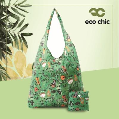 英國ECO 時尚摺疊購物袋-交響樂(100%再生環保纖維布料)(快)