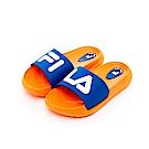FILA KIDS 中童MD運動拖鞋-橘藍 2-S431T-631