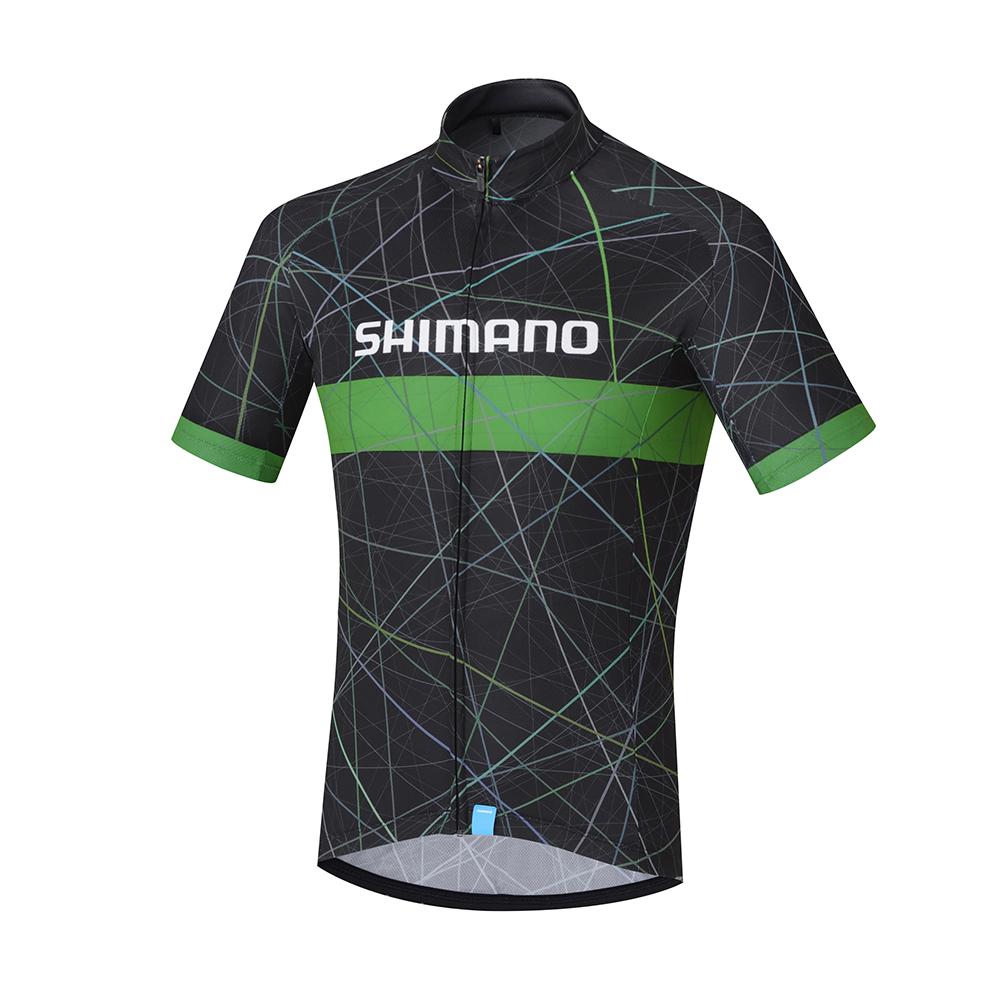 【SHIMANO】TEAM 短袖車衣 黑/綠